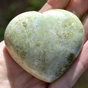 Vessonite - broušené srdce 50 - 60 mm  - 1