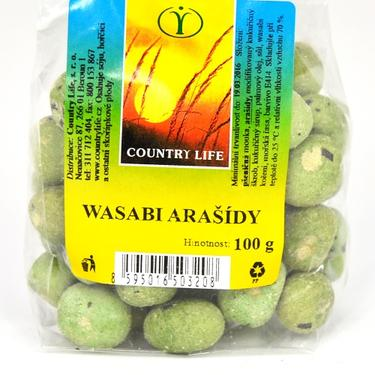 Country Life Arašídy Wasabi 100 g