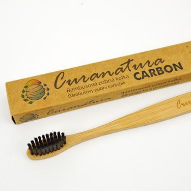 Curanatura Carbon kartáček na zuby bambus - soft  - 1