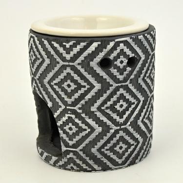 Aromalampa Kosočtverce, keramika  - 2
