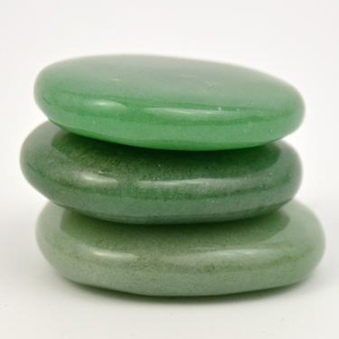 Aventurín zelený - masážní placička malá  - 2