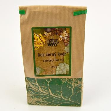 Sušené byliny sáček - Bez černý květ řezaný 100 g  - 2