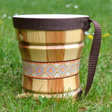 Dřevěné bongo - bubínek pro děti  - 2