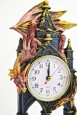 Hodiny fantasy - Drak - Strážce času  - 2