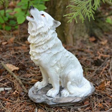 Fantasy soška Sněžný vlk - sedící  - 2
