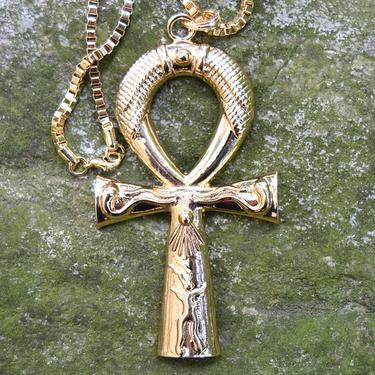 Faraonský náhrdelník - Zlatý Anch Sluneční  - 2