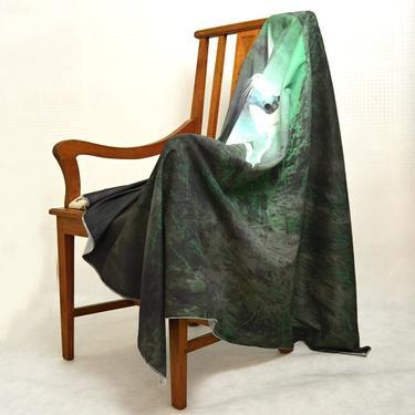 Šátek - přehoz Bílý jednorožec v pralese  - 2