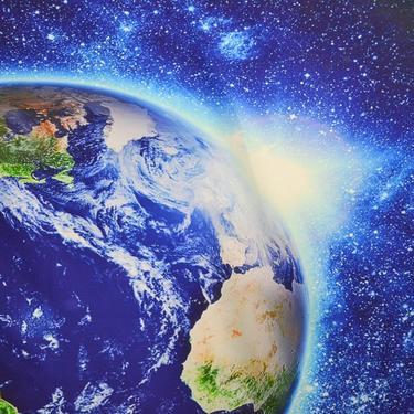 Šátek - přehoz Modrá planeta  - 2