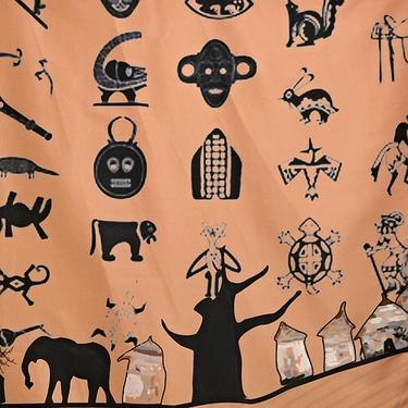 Šátek - přehoz Africa  - 2