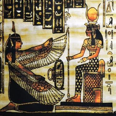 Šátek - přehoz Egypt - Maat, Isis, Horus, Farao  - 2