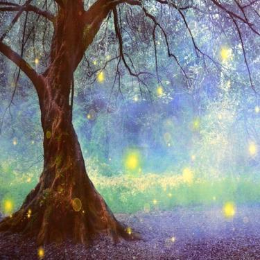 Šátek - přehoz Kouzelný les  - 2