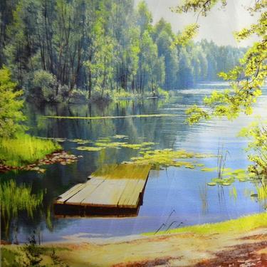 Šátek - přehoz Léto na jezeře  - 2
