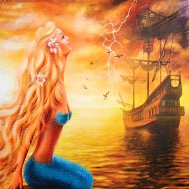 Šátek - přehoz Mořská panna  - 2