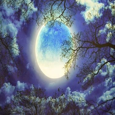 Šátek - přehoz Síla Měsíce  - 2