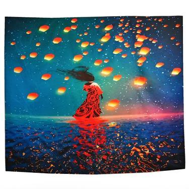 Šátek - přehoz Tanečnice na vlnách  - 2