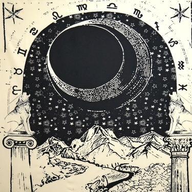 Šátek - přehoz Tarotová karta Měsíc  - 2