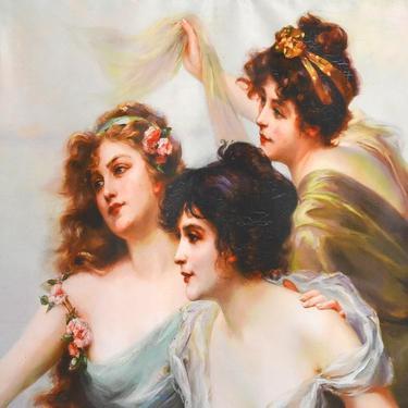 Šátek - přehoz Tři ženy s andělem  - 2