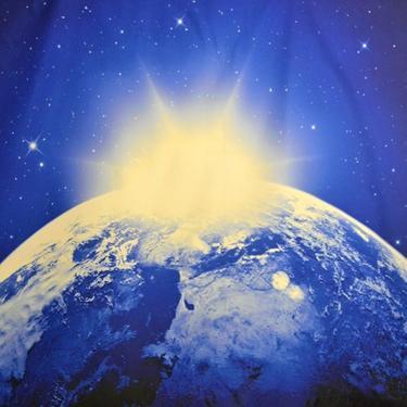 Šátek - přehoz Světlo přišlo na Zem  - 2