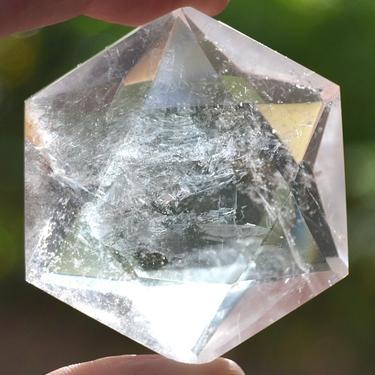 Hexahedron z horského křišťálu 30 mm  - 2