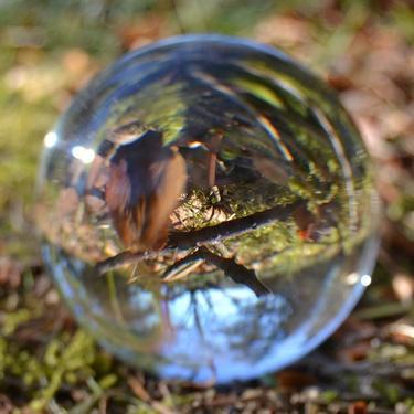 Skleněná broušená křišťálová koule 10 cm  - 2