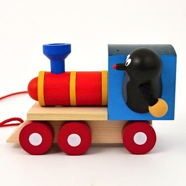 Dřevěná hračka - Krteček a mašinka  - 2