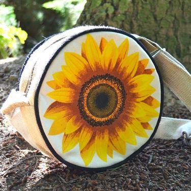 Taška přes rameno kulatá - Slunečnice  - 2