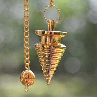 Kyvadlo soustružené zlatá barva  - 2