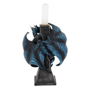 Magický svícen - stojánek, Drak s keltským křížem  - 2
