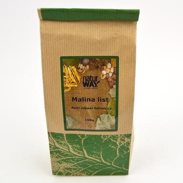 Sušené byliny sáček - Malina list 100 g  - 2