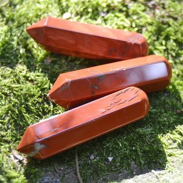 Masážní léčitelská hůlka 6c m - Jaspis červený  - 2