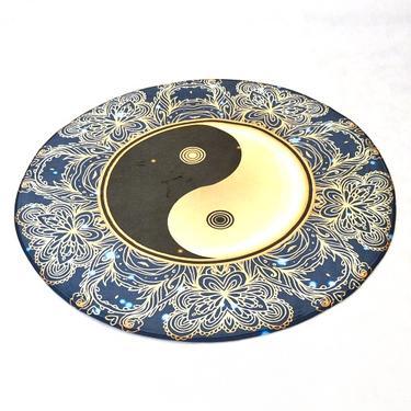 Meditační kobereček Jin Jang kulatý, 80 cm průměr  - 2