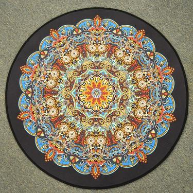Meditační kobereček Mandala Hvězda kulatý, 80 cm  - 2