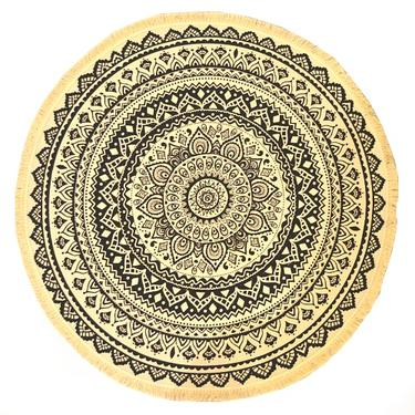 Meditační kobereček Faiza kulatý, 90 cm průměr  - 2