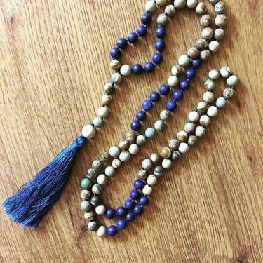 Šamanský náhrdelník IINII - Indigo  - 2