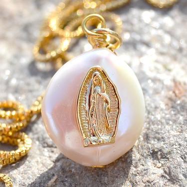 Náhrdelník Panna Marie s perlou  - 2
