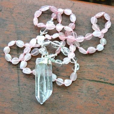 Náhrdelník Růženín, křišťál krystal  - 2