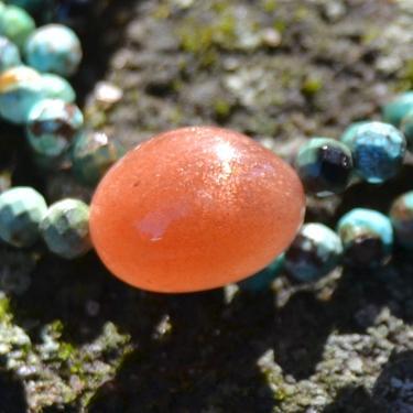 Náhrdelník Slunce Sahary - tyrkys, sluneční kámen  - 2