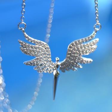 Náhrdelník Bílý Anděl, stříbro Ag 925/1000  - 2