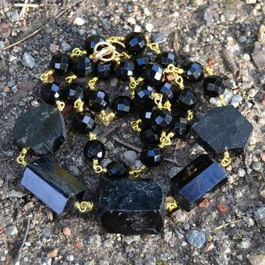 Náhrdelník Turmalín skoryl krystaly  - 2