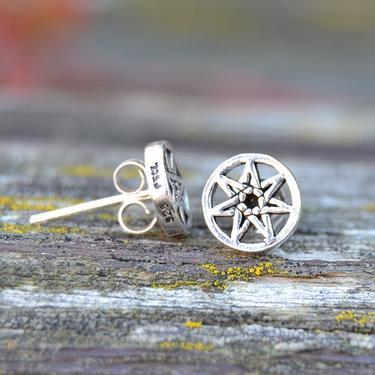 Náušnice Sedmicípá Hvězda, stříbro Ag 925/1000  - 2