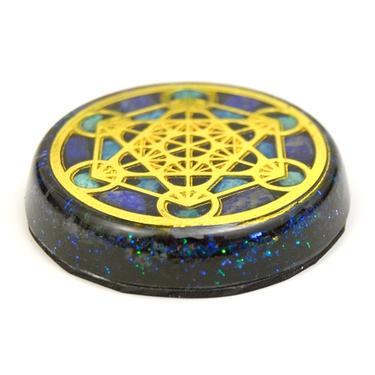 Orgonit magnet Metatronova kostka zlatá  - 2