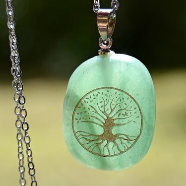 Přívěsek Strom Života, zelený aventurín  - 2