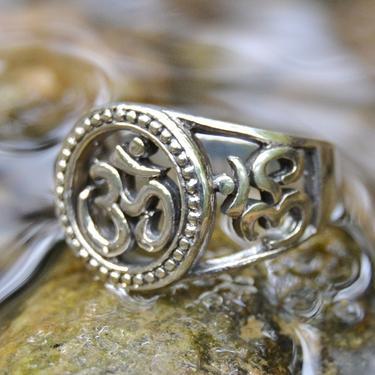 Prsten Óm velký, stříbro Ag 925/1000 vel. 56  - 2