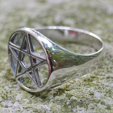 Prsten Pentagram stříbro Ag 925/1000 - vel. 63  - 2