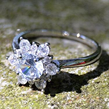 Prsten Vločka sněhu - velikost 56  - 2