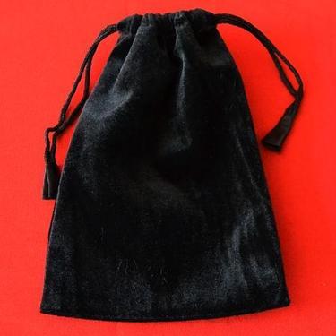Runové kameny - černý jaspis, se sametovým sáčkem  - 2
