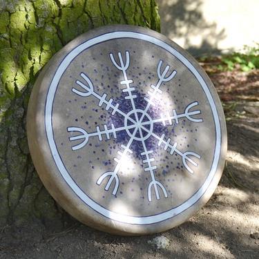Šamanský buben Aegishjalmur 40 cm  - 2
