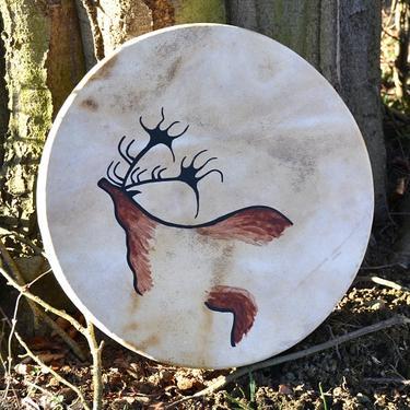 Šamanský buben Jeskynní malba 40 cm  - 2