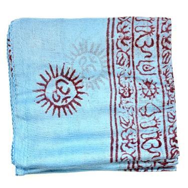 Šátek mantra - světle modrý  - 2