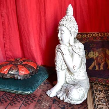 Socha Bílý Buddha Osvícený 55 cm  - 2